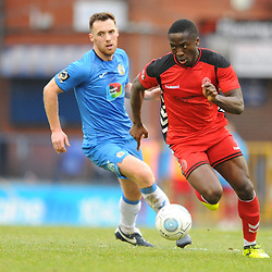 TELFORD COPYRIGHT MIKE SHERIDAN 16/2/2019 - Dan Udoh of AFC Telford during the Vanarama Conference North fixture between Stockport County and AFC Telford United at Edgeley Park