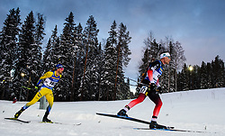 March 9, 2019 - –Stersund, Sweden - 190309 Fredrik Lindström of Sweden and Erlend Bjøntegaard of Norway competes in the Men's 10 KM sprint during the IBU World Championships Biathlon on March 9, 2019 in Östersund..Photo: Petter Arvidson / BILDBYRÃ…N / kod PA / 92252 (Credit Image: © Petter Arvidson/Bildbyran via ZUMA Press)