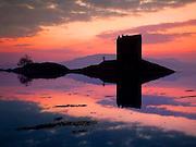 Sunset over Castle Stalker, Appin, Argyll
