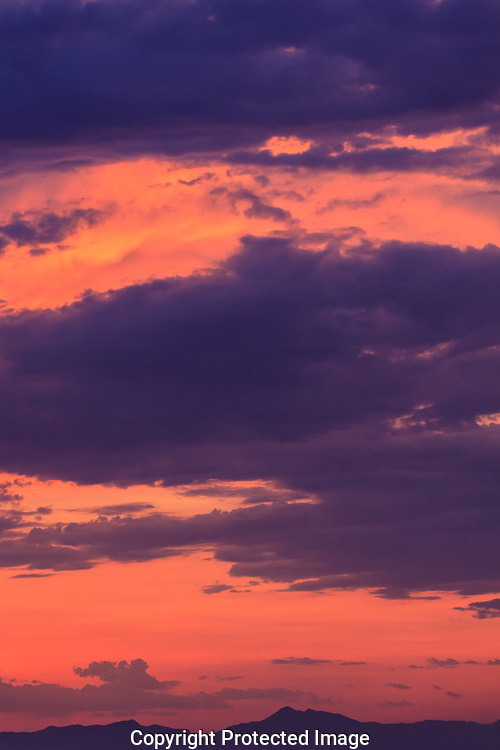 Beautiful pastel colors emerge from this northern Arizona sunset