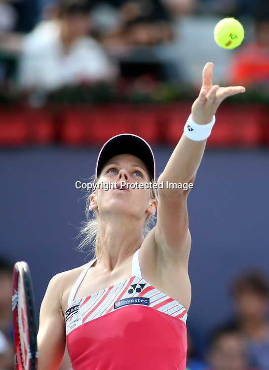 Oct 06, 2009, Beijing, China, Elena Dementieva of Russia defeats Melinda Czink of Hungary 2:0 in the second round of China Open at the National Tennis Center.