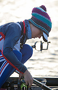 Caversham, Reading, Great Britain,  GBR LW1X, Brianne STUBBS, tightens her gate before boating at the GBRowing Training Session, Water and Gym/Ergo, at the National Training Base, Berkshire, England.<br /> <br /> Wednesday  18/11/2015<br /> <br /> [Mandatory Credit; Peter Spurrier/Intersport-images]