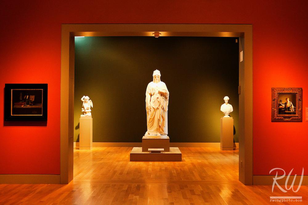 Sculptures in Virginia Steele Scott Galleries of American Art at The Huntington, San Marino, California