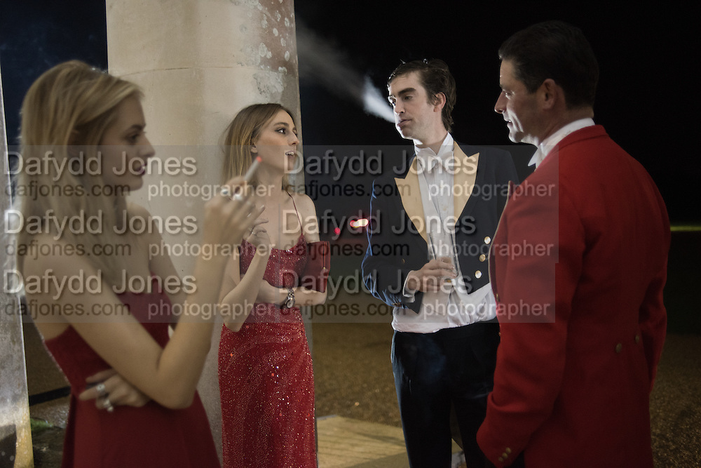 IDINA MONCRIEFFE; LADY ALICE MANNERS, TOM FABER, Charlton Hunt Ball at Goodwood House.  6 February 2016