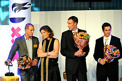 15-12-2008 ALGEMEEN: TOPSPORT GALA: AMSTERDAM<br /> Marcel van der Westen, Carolien Gehrels, Richard Schuil en Pieter Jan Postma<br /> ©2008-WWW.FOTOHOOGENDOORN.NL