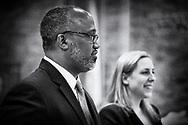 Levittown, New York, USA. June 4, 2018. Debate between Congressional District 2 Democratic primary candidates Suffolk County Legislator DuWayne Gregory and Liuba Grechen Shirley, held by Seaford Wantagh Democratic Club at Levittown Hall.