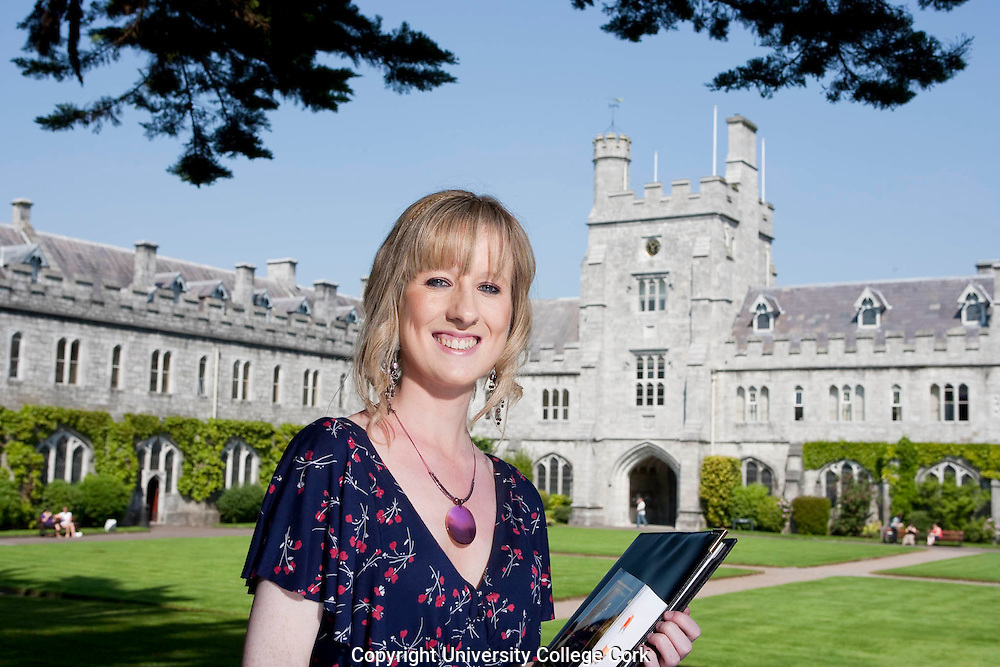Catherine Burke photographed in main Quad, University College Cork. Photograph by Tomas Tyner,UCC.