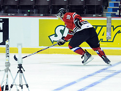 Brad Ross of the Portland Winterhawks participates in Next Testing at the Home Hardware CHL Top Prospects Game in Windsor, ON on Tuesday. Photo by Aaron Bell/CHL