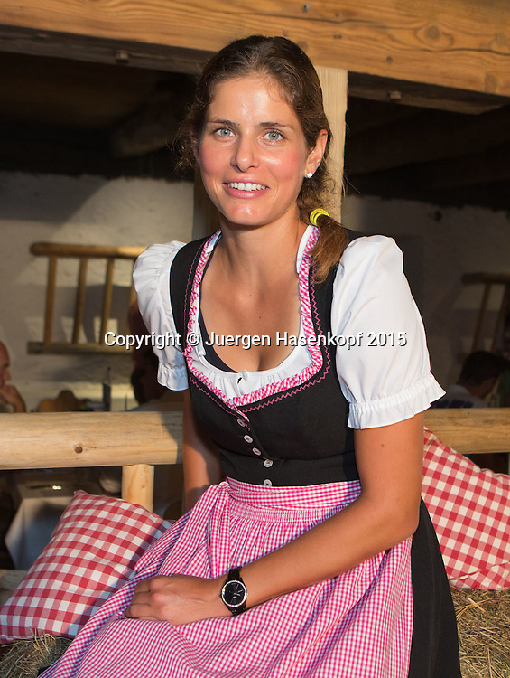 Julia Goerges (GER) im Dirndl bei der Player's Party,privat,<br /> <br /> Tennis - Gastein Ladies 2015 - WTA -  Europaeischer Hof - Bad Gastein -  - Oesterreich - 21 July 2015. <br /> &copy; Juergen Hasenkopf