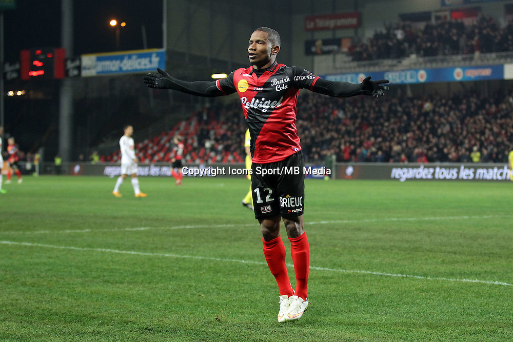 JOIE Claudio BEAUVUE  - 24.01.2015 - Guingamp / Lorient - 22eme journee de Ligue1<br />
