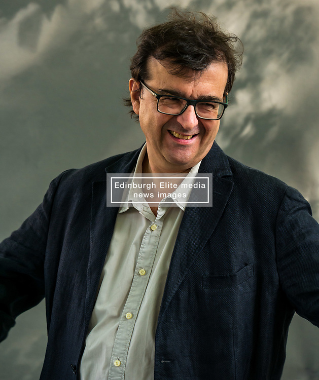 Pictured: Edinburgh International Book Festival, Edinburgh, Scotland, United Kingdom, 24 August 2019.  Pictured: Spanish writer Javier Cercas Mena and professor of Spanish literature at the University of Girona talks about his book 'Lord of All the Dead' at the book festival today.<br /> Sally Anderson | EdinburghElitemedia.co.uk