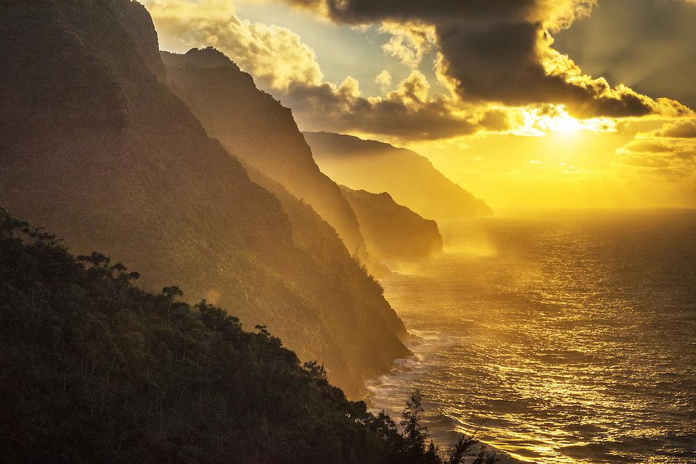 USA, Hawaii, Kauai, Hanalei, Na pali coast, Kalalau Trail