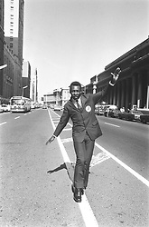 Jun 23, 1971; Toronto, ON, Canada; Black Pearl, king of soccer, the superlatives are many when it comes to Brazil's Pele, regarded as the world's greatest soccer player. Pele shows off footwork by dancing along the white line on Front St. on his arrival here yesterday. Tonight, Pele and Santos team from Brazil play Bologna ofItaly at Varsity Stadium.   (Credit Image: © Boris Spremo/Toronto Star/ZUMAPRESS.com)
