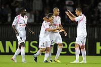 FOOTBALL - FRENCH CHAMPIONSHIP 2011/2012 - L1 - PARIS SG v FC LORIENT - 06/08/2011 - PHOTO JEAN MARIE HERVIO / DPPI - JOY LORIENT AFTER THE JULIEN QUERCIA'S GOAL
