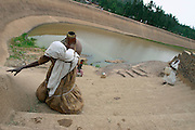 AXUM, TIGRAY/ETHIOPIA..People fetching water from the Queen of Sheba's Bath..(Photo by Heimo Aga)