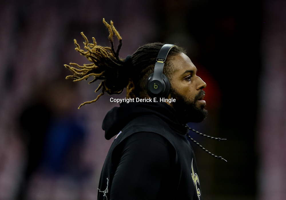 Oct 8, 2018; New Orleans, LA, USA; New Orleans Saints defensive end Cameron Jordan (94) before a game against the Washington Redskins at the Mercedes-Benz Superdome. Mandatory Credit: Derick E. Hingle-USA TODAY Sports