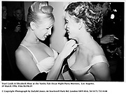 Traci Lords & Elizabeth Shoe at the Vanity Fair Oscar Night Party Mortons,  Los Angeles. 25 March 1996. Film.96198/25<br /><br />© Copyright Photograph by Dafydd Jones<br />66 Stockwell Park Rd. London SW9 0DA<br />Tel 0171 733 0108