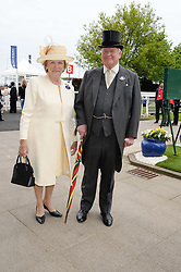 MR & MRS CHRISTOPHER SPENCE at the Investec Derby 2013 held at Epsom Racecourse, Epsom, Surrey on 1st June 2013.