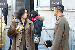 Fashionistas arriving at the Lanvin Autumn / Winter 2017 Paris Men Fashion Week  show at Palais de Tokyo, Paris on Sunday January 22, 2017.