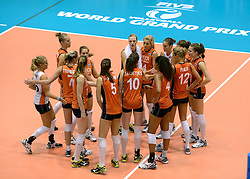08-08-2014 NED: FIVB Grand Prix Nederland - Puerto Rico, Doetinchem<br /> Teleurstelling bij Nederland