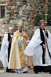 © London News Pictures. 21/03/2013. The Most Rev Justin Welby the new Archbishop of Canterbury proceeds towards his enthronement at Canterbury Catherdral in Canterbury, Kent today. Photo credit should read Manu Palomeque/LNP
