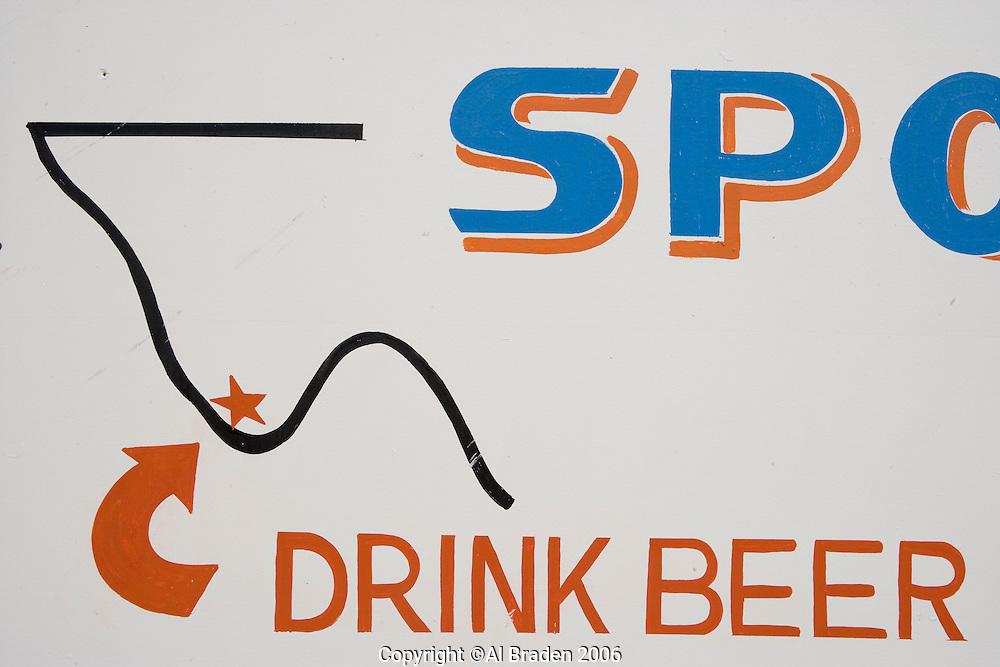 Beer signs at Terlingua Ghost Town, Terlingua, Texas