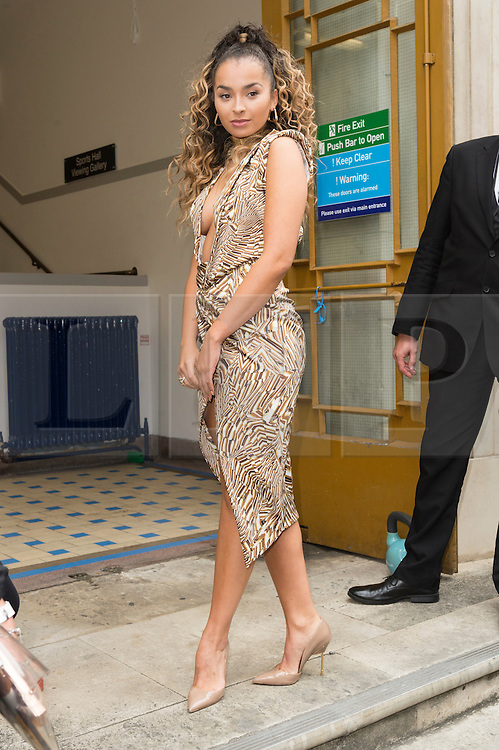 © Licensed to London News Pictures. 17/09/2016.  ELLA EYRE arrives for the JULIEN MACDONALD Spring/Summer 2017 show. Models, buyers, celebrities and the stylish descend upon London Fashion Week for the Spring/Summer 2017 clothes collection shows. London, UK. Photo credit: Ray Tang/LNP