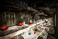 Philippines, Manila. Small graves at the Chinese Cemetery.