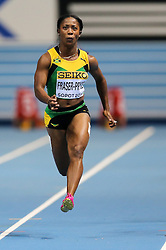 08.03.2014, Ergo Arena, Sopot, POL, IAAF, Leichtathletik Indoor WM, Sopot 2014, im Bild 60 m, Shelly-Ann Fraser-Pryce (JAM) // 60 m, Shelly-Ann Fraser-Pryce (JAM)  during day two of IAAF World Indoor Championships Sopot 2014 at the Ergo Arena in Sopot, Poland on 2014/03/08. EXPA Pictures © 2014, PhotoCredit: EXPA/ Newspix/ Tomasz Jastrzebowski<br /> <br /> *****ATTENTION - for AUT, SLO, CRO, SRB, BIH, MAZ, TUR, SUI, SWE only*****