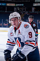 KELOWNA, CANADA - SEPTEMBER 5: Jackson Shepard #9 of the Kamloops Blazers skates against the Kelowna Rockets on September 5, 2017 at Prospera Place in Kelowna, British Columbia, Canada.  (Photo by Marissa Baecker/Shoot the Breeze)  *** Local Caption ***