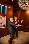 Photo by Matt Roth<br /> Assignment ID: 30148071A<br /> <br /> David Hagedorn, left, and Michael Widomski, right, invite their wedding guests to join them on the dance floor  at Fiola Restaurant after having their first dance in Washington, DC, Sunday, September 22, 2013.