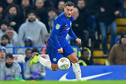 January 24, 2019 - London, England, United Kingdom - Chelsea midfielder Eden Hazard in action during the Carabao Cup match between Chelsea and Tottenham Hotspur at Stamford Bridge, London on Thursday 24th January 2019. (Credit Image: © Mark Fletcher/NurPhoto via ZUMA Press)