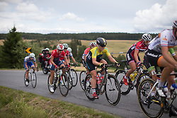 The breakaway rides up the second KOM climb of the 97,1 km second stage of the 2016 Ladies' Tour of Norway women's road cycling race on August 13, 2016 between Mysen and Sarpsborg, Norway. (Photo by Balint Hamvas/Velofocus)