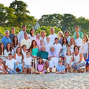Family portrait of 44 on Breakwater Beach in Brewster