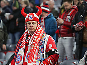Bayern Munich fan during the Champions League round of 16, leg 2 of 2 match between Bayern Munich and Liverpool at the Allianz Arena stadium, Munich, Germany on 13 March 2019.