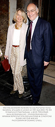 MICHAEL & SANDRA HOWARD he was the former Home Secretary, at a party in London on 15th April 2003. 	PIX 353