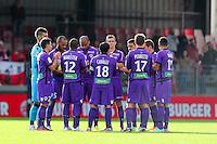Groupe Ajaccio - 20.12.2014 - Brest / Ajaccio - 18eme journee de Ligue 2 <br /> Photo : Vincent Michel / Icon Sport