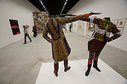 "Arsenale. Yinka Shonibare, Nigeria. ""How to blow up two Heads at once."" 2006"