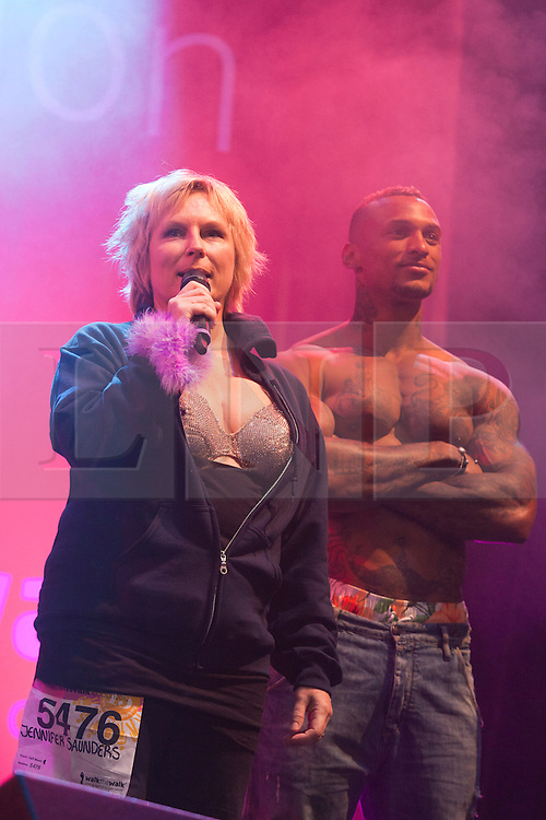 "© Licensed to London News Pictures. 12/05/2012. London, England. Actress Jennifer Saunders. The MoonWalk London 2012, Celebrating 15 years of Moon Walking for the breast cancer charity ""Walk the Walk"". Photo credit: Bettina Strenske/LNP"