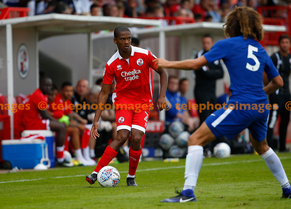 Lewis Young of Crawley during the pre season friendly between Crawley Town and Chelsea XI at the Checkatrade Stadium in Crawley. 15 Jul 2017