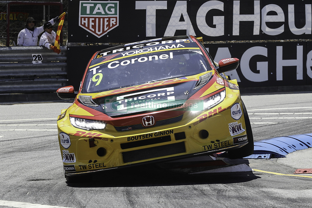 June 23, 2018 - Vila Real, Vila Real, Portugal - Tom Coronel from Netherlands in Honda Civic Type R TCR of Boutsen Ginion Racing in action during the Race 1 of FIA WTCR 2018 World Touring Car Cup Race of Portugal, Vila Real, June 23, 2018. (Credit Image: © Dpi/NurPhoto via ZUMA Press)