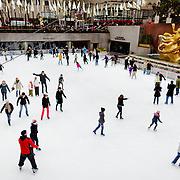 Rockfeller center ice rink.