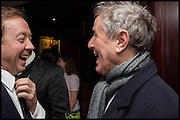 GEORDIE GREIG; DAVID JENKINS, Ralph Lauren host launch party for Nicky Haslam's book ' A Designer's Life' published by Jacqui Small. Ralph Lauren, 1 Bond St. London. 19 November 2014
