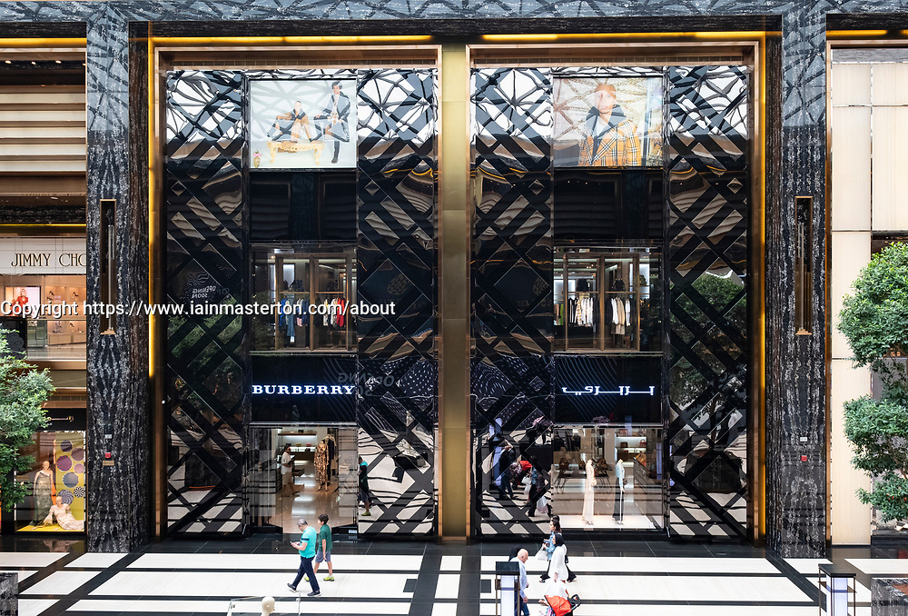 Burberry store in the Prestige mall inside The Avenues shopping mall in Kuwait City, Kuwait.