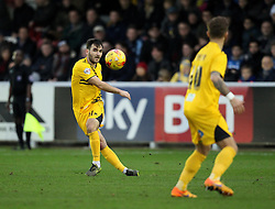 Jake Gosling of Bristol Rovers sprays a pass wide - Mandatory byline: Robbie Stephenson/JMP - 07966 386802 - 26/12/2015 - FOOTBALL - Kingsmeadow Stadium - Wimbledon, England - AFC Wimbledon v Bristol Rovers - Sky Bet League Two