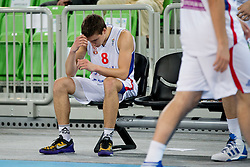 Bodgan Bogdanovic of Serbia sad because the loss during basketball match between National teams of Serbia and Spain in for third place match of U20 Men European Championship Slovenia 2012, on July 22, 2012 in SRC Stozice, Ljubljana, Slovenia. Spain defeated Serbia 67:66. (Photo by Matic Klansek Velej / Sportida.com)