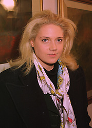 MISS ZOE APPLEYARD a close friend of Rory Bremner the comedian, at an exhibition in London on 17th April 1998.<br /> MGC 5