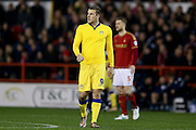 Leeds United forward Chris Wood  during the Sky Bet Championship match between Nottingham Forest and Leeds United at the City Ground, Nottingham, England on 27 December 2015. Photo by Simon Davies.