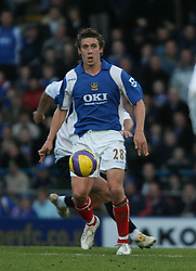 PORTSMOUTH, ENGLAND - SATURDAY, DECEMBER 9th, 2006: Sean Davis of Portsmouth during the Premiership match at Fratton Park. (Pic by Chris Ratcliffe/Propaganda)