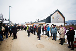 Fans during Presentation of new house of Jakov Fak, made by Lumar, on February 26, 2018 in Lesce, Lesce, Slovenia. Photo by Ziga Zupan / Sportida